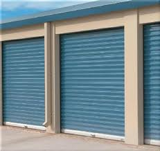 Blue Roll-up Garage Door